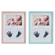 Cornice per bambini in legno blu, rosa, bianco 3 v