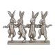 Espositore Gruppo coniglio di poli argento (B / H
