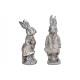 Królik wykonany z poli srebra 2- razy mieszany , (