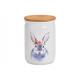 Vaso portaoggetti decorato con coniglietto in cera