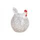 Pollo in ceramica bianco (B / H / D) 10x14x10cm