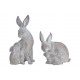 Bunny Mother and Child Poly Grey 2- volte assortit
