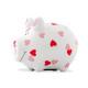 Savingsbox KCG Kleinschwein, Herzchen-Schwein, aus