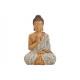 Buddha seduta in poli beige (L / A / P) 32x25x48 c