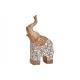 Elefante in poli beige (L / A / P) 35x18x14 cm