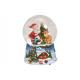 Carillon, globo di neve Babbo Natale con pinguino