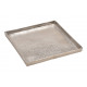 Vassoio in alluminio argento (L / A / P) 25x2x25 c