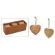 Cuore appendiabiti in legno di mango marrone (L /