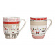 Mug Christmas elf decor made of colorful porcelain