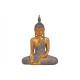 Buddha realizzato in poli marrone, oro (L / A / P)