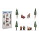 Miniatűr ábrák, fa 4-14cm H műanyagból