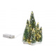 Tree group of 5 with light made of poly green (W /