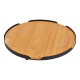 Piatto da portata in bambù, metallo naturale Ø28cm