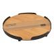 Piatto da portata in bambù, metallo naturale Ø18cm