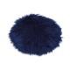 Cuscino seduta in pelliccia sintetica blu Ø34cm