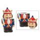 Schiaccianoci in scatola in ceramica colorata (L /