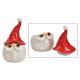 Ceramic box Santa Claus head red, white (W / H / D