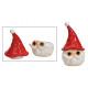 Scatola in ceramica Testa di Babbo Natale rossa, b