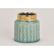 Vaso in ceramica verde, oro (L / A / P) 12x12x12cm