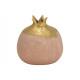 Vaso melograno in ceramica Rosa / Rosa, Oro (L / A