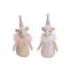 Mouse tessile rosa / rosa 2- volte assortito , (W
