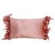cuscino con piume in tessuto rosa / rosa (L / H) 5