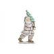 Babbo Natale con albero in poli bianco (L / A / P)