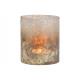 Porta tealight in vetro grigio (L / A / P) 12x14x1