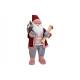 Babbo Natale fatto di tessuto, plastica rosso, ros
