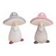 Ceramic mushroom pink / pink, gray 2- times assort