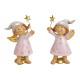 Engel mit Glitter aus Poly Pink/Rosa 2-fach sortie