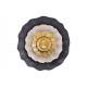 Appendiabiti da parete 3D fiore in metallo nero, o
