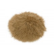 Coprisedile in pelliccia sintetica marrone chiaro