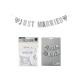 ghirlanda Just Married in carta / cartone bianco (