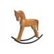 Cavallo a dondolo in legno di mango marrone (L / A