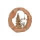 Espositore Alce in alluminio con albero in un anel