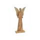 Angelo realizzato in legno di mango marrone, oro (