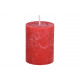Candle 6,8x9x6,8cm made of wax red