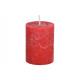 Świeca 6,8x9x6,8cm wykonana z woskowej czerwieni