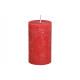 Świeca 6,8x12x6,8cm wykonana z woskowej czerwieni