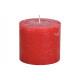 Świeca woskowa czerwona 10x9x10cm