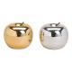 Mela in ceramica oro, argento 2- volte assortito ,