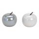 Céramique blanc pomme, gris 2- fois assorti , (L /