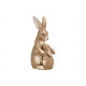 Bunny mother with child made of magnesia brown (W