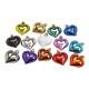 Set appendini natalizi cuore in plastica multicolo