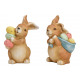 Bunny with Easter eggs made of clay 2- times assor