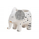 Ceramic elephant flower pot white (W / H / D) 12x9