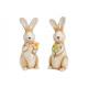 Coniglio in ceramica beige 2- volte assortito , (L