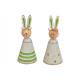 Coniglietto con occhiali in metallo, legno, verde