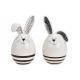 Ceramic rabbit white 2- times assorted , (W / H /